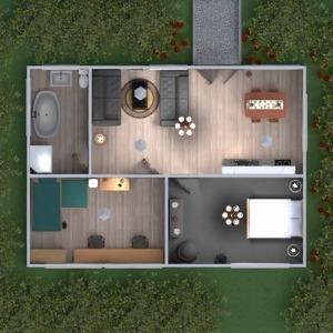 планировки ванная спальня гостиная кухня 3d