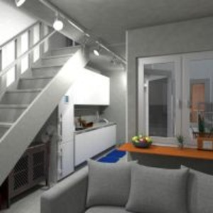 planos casa decoración cocina iluminación arquitectura descansillo 3d