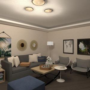 floorplans butas baldai miegamasis svetainė studija 3d