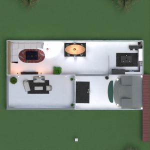floorplans casa varanda inferior quarto cozinha sala de jantar 3d