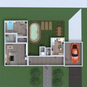 floorplans maison meubles chambre à coucher cuisine chambre d'enfant 3d