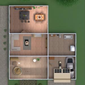 floorplans casa varanda inferior mobílias decoração banheiro quarto quarto garagem cozinha área externa quarto infantil escritório iluminação paisagismo utensílios domésticos sala de jantar arquitetura despensa patamar 3d