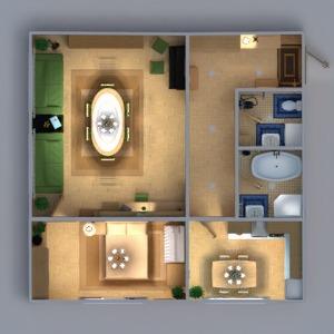 floorplans appartement meubles décoration diy salle de bains chambre à coucher salon cuisine chambre d'enfant eclairage rénovation maison salle à manger espace de rangement entrée 3d