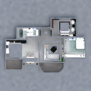 floorplans apartment furniture decor bathroom living room 3d