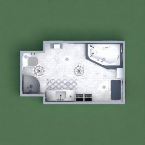 planos cuarto de baño iluminación 3d