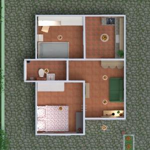 floorplans namas terasa baldai dekoras pasidaryk pats vonia miegamasis svetainė virtuvė eksterjeras sandėliukas 3d