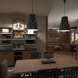 floorplans appartement terrasse meubles salle de bains chambre à coucher cuisine extérieur eclairage rénovation salle à manger 3d