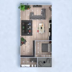 планировки квартира мебель спальня гостиная кухня 3d