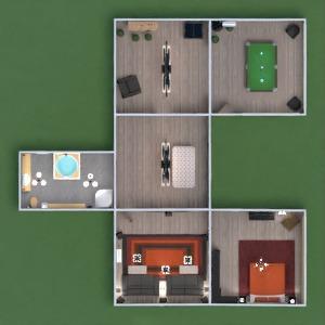 floorplans casa faça você mesmo quarto sala de jantar 3d
