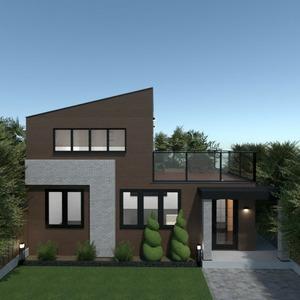 floorplans casa área externa paisagismo utensílios domésticos arquitetura 3d
