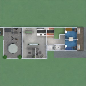 planos apartamento casa terraza muebles decoración cuarto de baño dormitorio salón garaje cocina exterior habitación infantil iluminación paisaje comedor arquitectura descansillo 3d