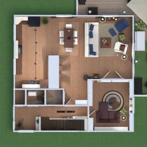floorplans haus mobiliar wohnzimmer küche esszimmer 3d