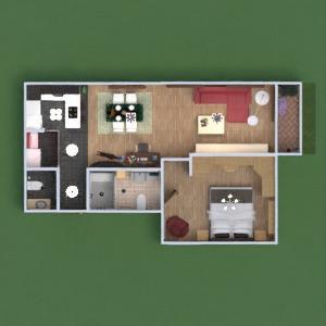 floorplans wohnung badezimmer schlafzimmer wohnzimmer küche 3d