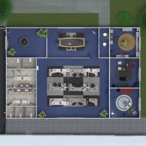 floorplans baldai eksterjeras biuras 3d