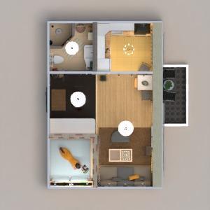 floorplans butas dekoras pasidaryk pats vonia miegamasis svetainė virtuvė renovacija sandėliukas studija prieškambaris 3d