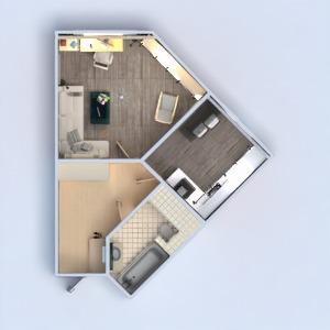 floorplans butas miegamasis virtuvė 3d