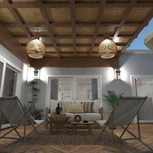 планировки дом терраса мебель декор 3d