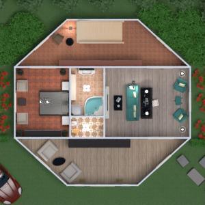 floorplans maison terrasse salle de bains chambre à coucher salon cuisine rénovation paysage salle à manger entrée 3d