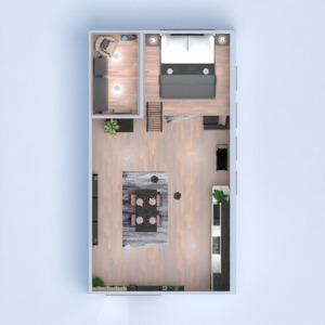 floorplans butas dekoras svetainė virtuvė 3d