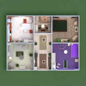floorplans wohnung mobiliar dekor do-it-yourself badezimmer schlafzimmer wohnzimmer küche kinderzimmer beleuchtung haushalt lagerraum, abstellraum eingang 3d