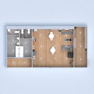floorplans dekoras virtuvė biuras kavinė 3d