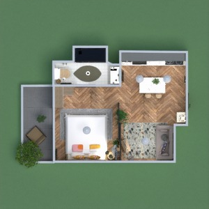 floorplans 公寓 露台 家具 装饰 结构 3d