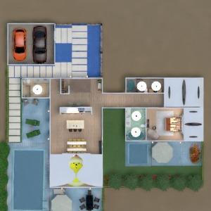 floorplans apartamento varanda inferior mobílias decoração faça você mesmo banheiro quarto quarto garagem cozinha área externa 3d