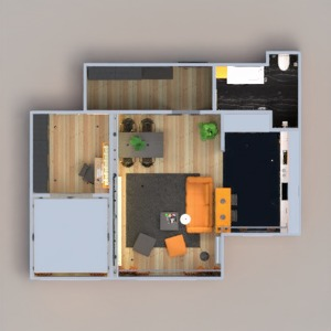 floorplans appartement salle de bains chambre à coucher cuisine eclairage maison 3d