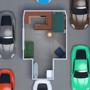 floorplans maison chambre à coucher salon cuisine espace de rangement 3d