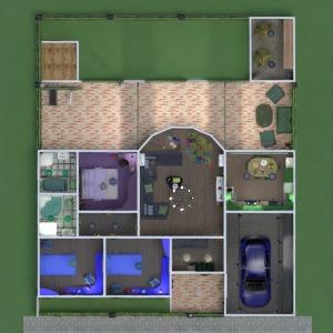 floorplans maison terrasse meubles décoration salle de bains chambre à coucher salon garage cuisine chambre d'enfant espace de rangement entrée 3d
