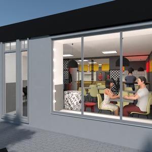 floorplans baldai apšvietimas renovacija kavinė studija 3d