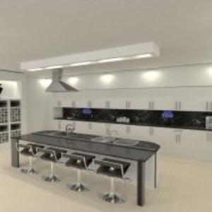 floorplans butas virtuvė 3d