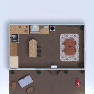 floorplans cozinha área externa paisagismo 3d