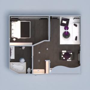 floorplans appartement meubles décoration diy salle de bains chambre à coucher salon cuisine eclairage salle à manger espace de rangement studio entrée 3d