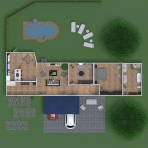 floorplans maison meubles décoration salle de bains chambre à coucher salon cuisine extérieur chambre d'enfant paysage salle à manger 3d