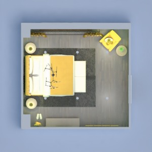 floorplans 卧室 照明 3d