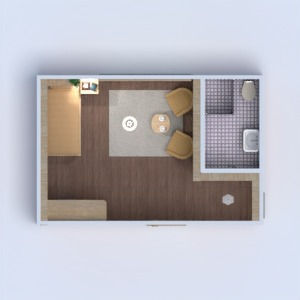 planos casa cuarto de baño dormitorio 3d