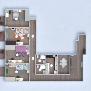 floorplans wohnung mobiliar badezimmer schlafzimmer küche 3d