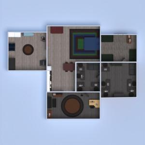floorplans apartamento casa mobílias quarto cozinha escritório sala de jantar estúdio patamar 3d