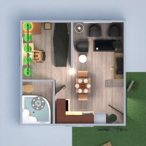floorplans vonia miegamasis svetainė virtuvė studija 3d