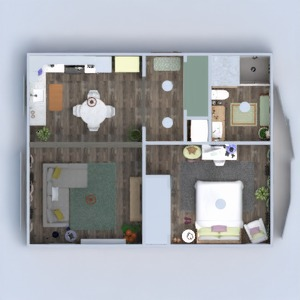 floorplans apartamento mobílias decoração faça você mesmo banheiro quarto quarto cozinha iluminação paisagismo utensílios domésticos sala de jantar arquitetura despensa patamar 3d