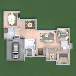 floorplans 独栋别墅 家具 装饰 客厅 家电 3d
