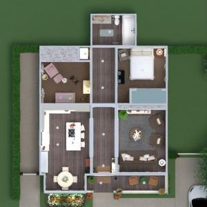 floorplans casa mobílias decoração faça você mesmo banheiro quarto cozinha iluminação paisagismo utensílios domésticos sala de jantar arquitetura despensa patamar 3d