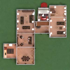 floorplans casa mobílias decoração quarto garagem cozinha sala de jantar arquitetura 3d