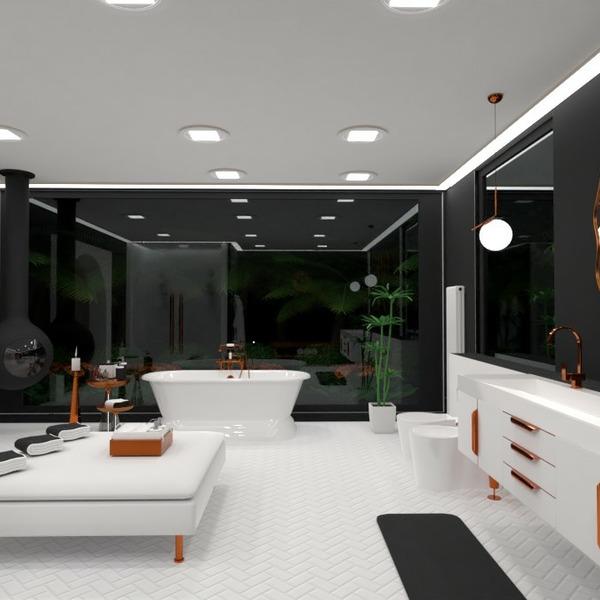 floorplans mobílias decoração banheiro área externa iluminação 3d