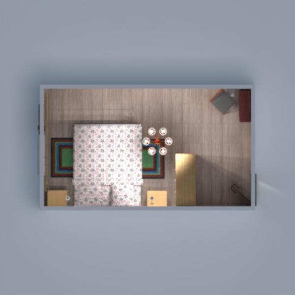 floorplans 公寓 diy 卧室 3d