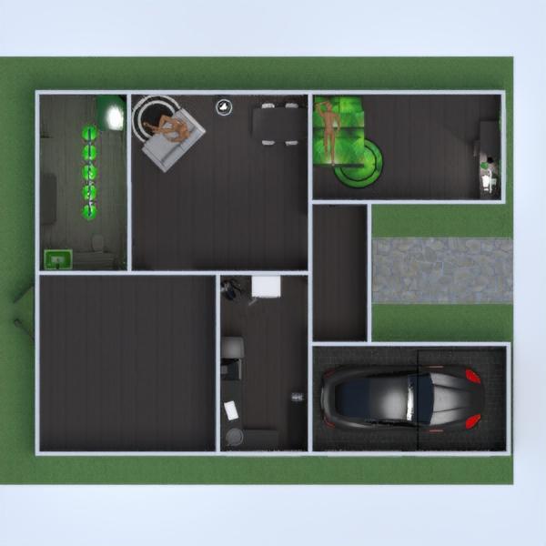 floorplans vonia miegamasis svetainė garažas virtuvė 3d