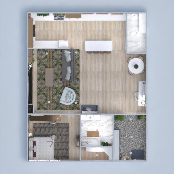 floorplans apartamento casa mobílias quarto quarto 3d