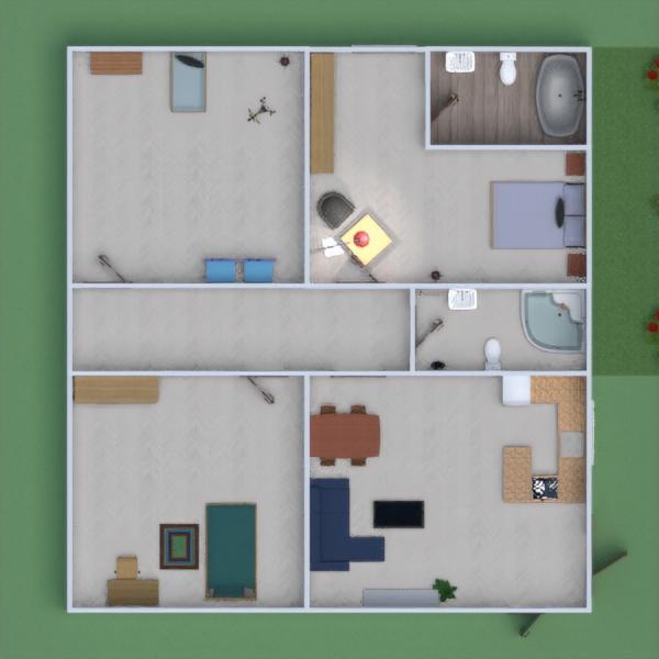 planos casa muebles decoración arquitectura 3d