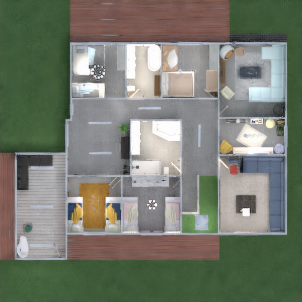 progetti casa decorazioni oggetti esterni illuminazione 3d